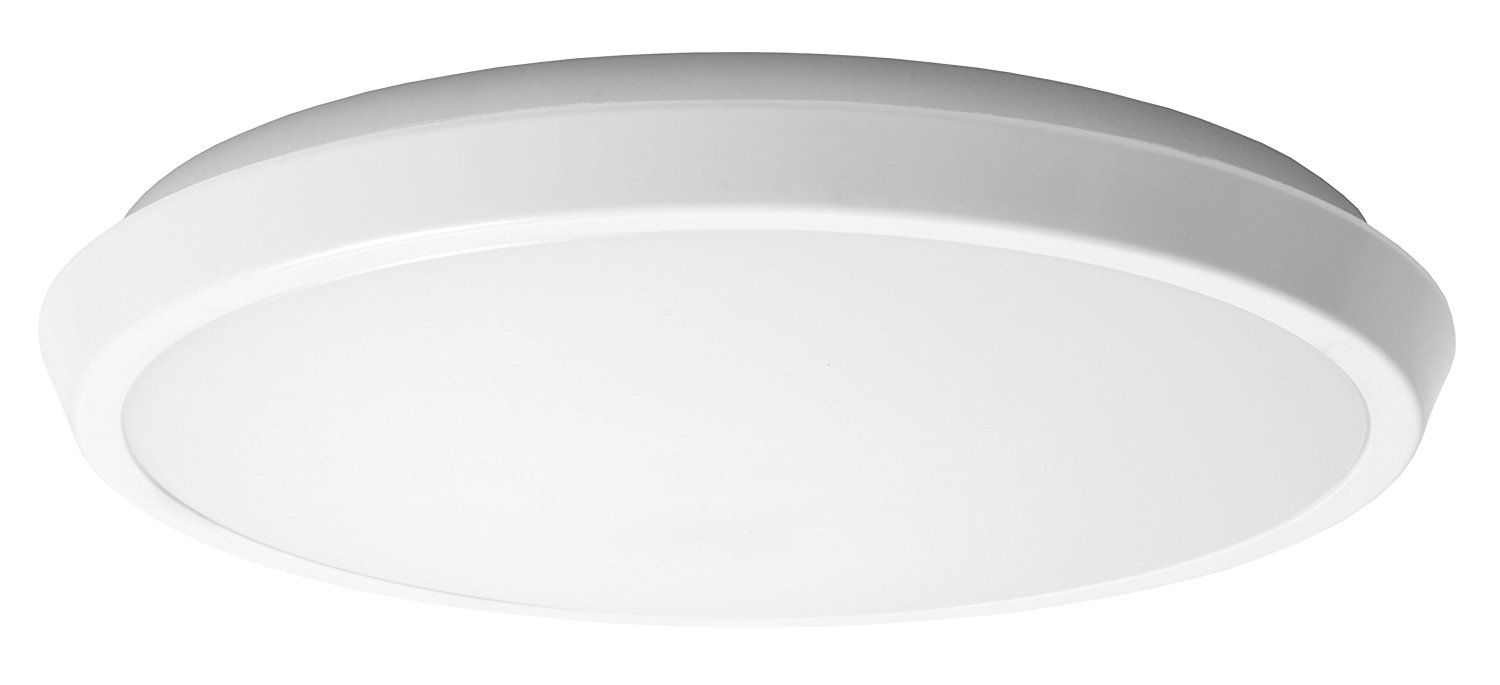 GE Lighting 33741 LED 15-watt 1000-Lumen 9-Inch Indoor Flush Mount Ceiling Fixture, Direct-Wire, Soft White, 1-Pack