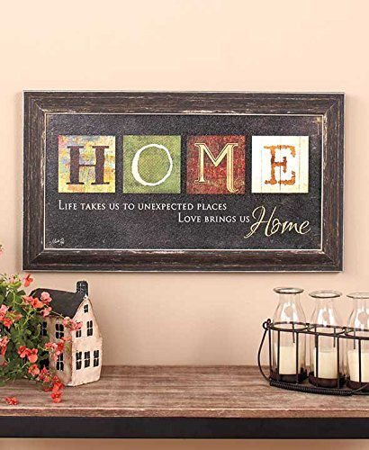 Home Country Primitive Americana Inspirational Wall Art Rustic Hanging Decorative Plaque Sign Accent Sentimental Saying Decor By Artist Marla Rae