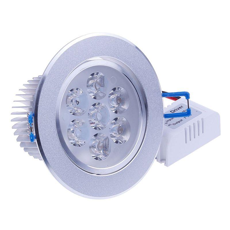LEMONBEST® Brand New 110V Dimmable 7W LED Ceiling Light Downlight Recessed Lighting, Superbright Cool White