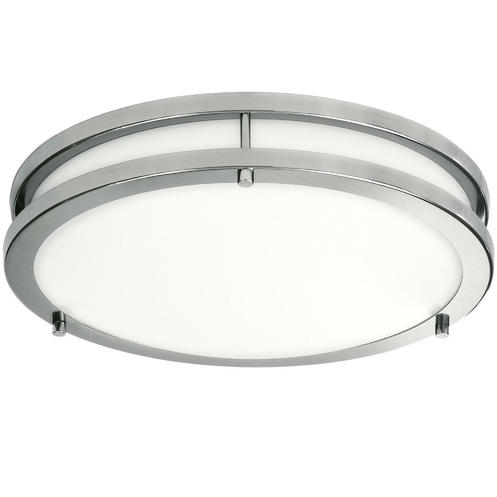 Light Blue™ LED Flush Mount Ceiling Light, Antique Brushed Nickel, 12-Inch 3000K Warm White, 1050 Lumens, Dimmable
