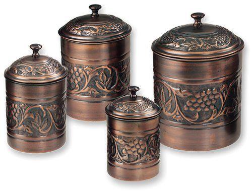 Old Dutch Antique Embossed Heritage Canister Set - 4 Piece Set