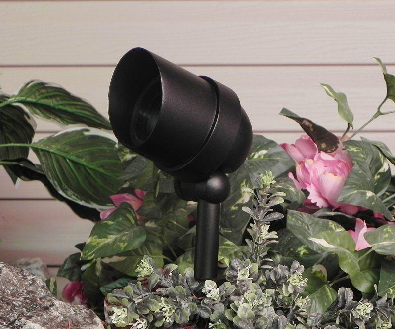 Paradise GL22720BK Low-Voltage Cast-Aluminum 50-Watt Halogen Floodlight, Black