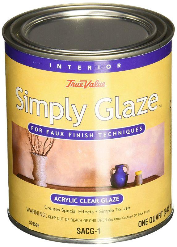 True Value SACG1-QT Simply Glaze Acrylic Clear Glaze for Faux Finishing