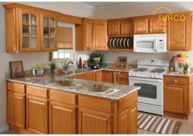 sunco 10x10 randolph oak kitchen cabinet