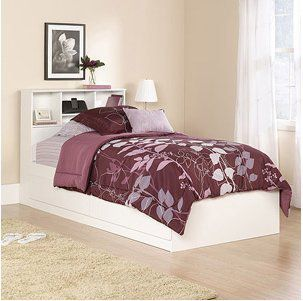 Twin Storage Bed White, Twin Bed Frame with Storage