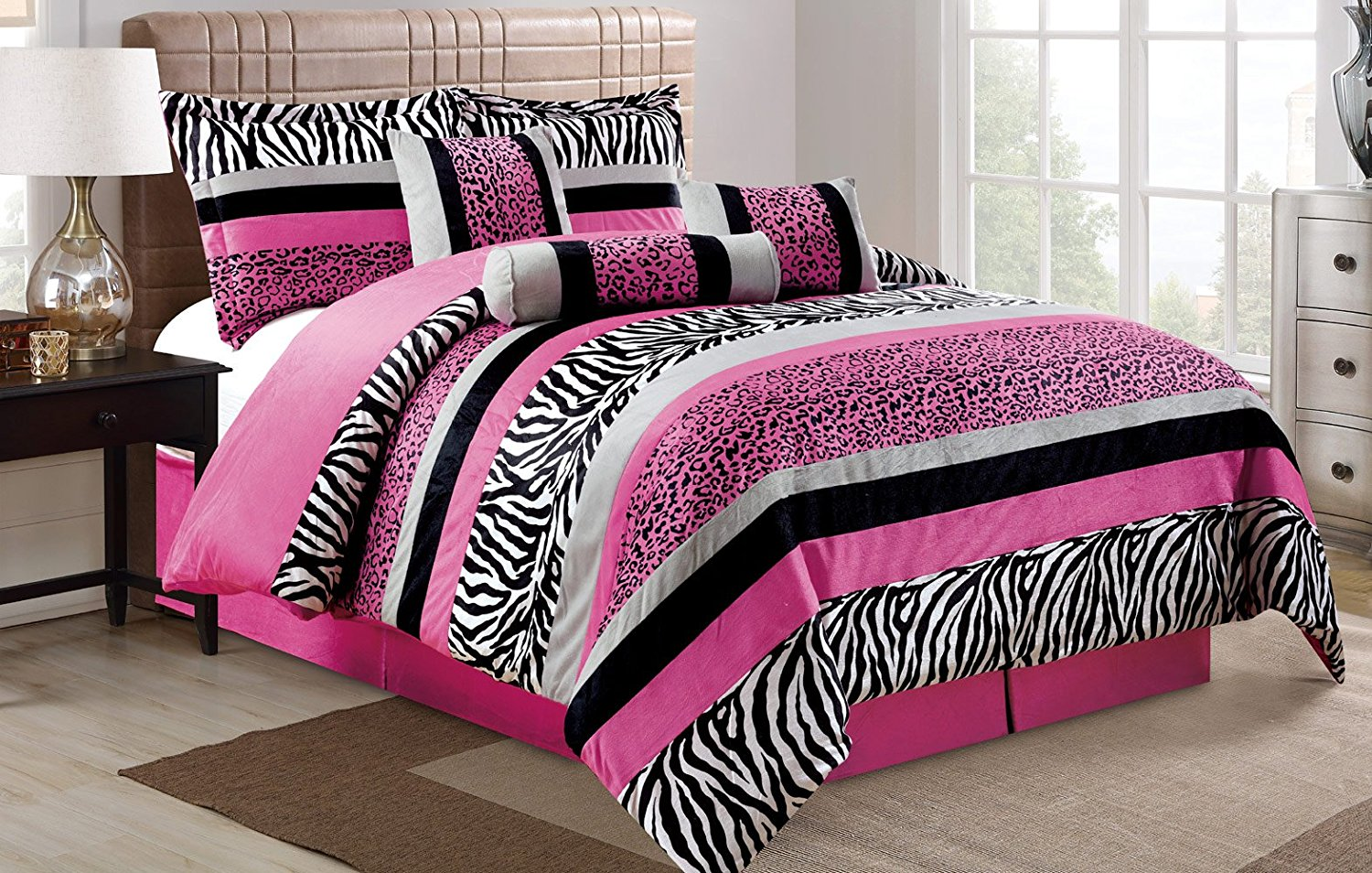 Pink And Black Zebra Bedding Review Comfort In Color