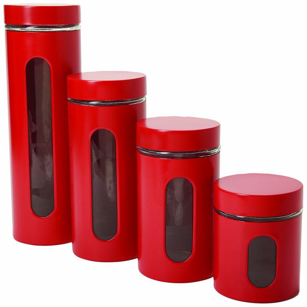 Anchor Hocking 4-Piece Palladian Cherry Window Cylinder Set