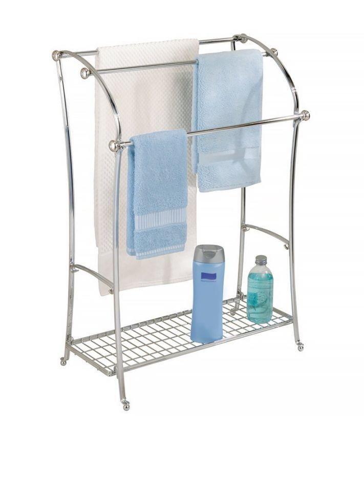 InterDesign York Lyra Free Standing Bathroom Towel Rack