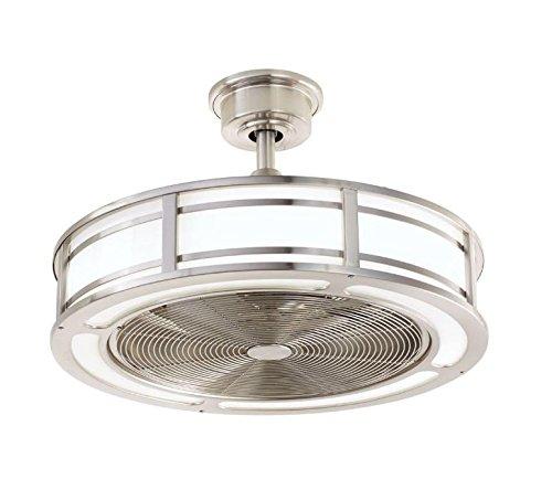 Brette 23 in. LED Indoor/Outdoor Brushed Nickel Ceiling Fan