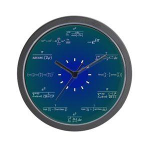 """CafePress - Math Clock - Unique Decorative 10"""" Wall Clock"""