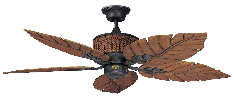 Concord Fans 52FEB5RI 52 Inch Fernleaf Breeze Damp Location Ceiling Fan - Rustic Iron