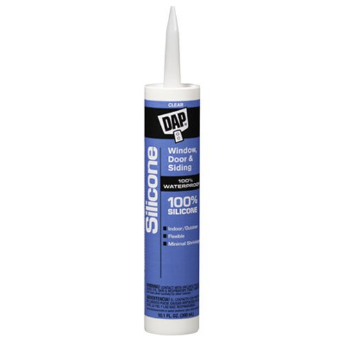Dap 08641 Clear Silicone Sealant 9.8-Ounce