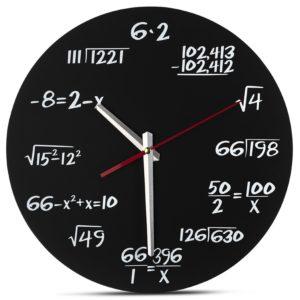 Decodyne Math Wall Clock - Unique Wall Clock - Each Hour Marked By a Simple Math Equation