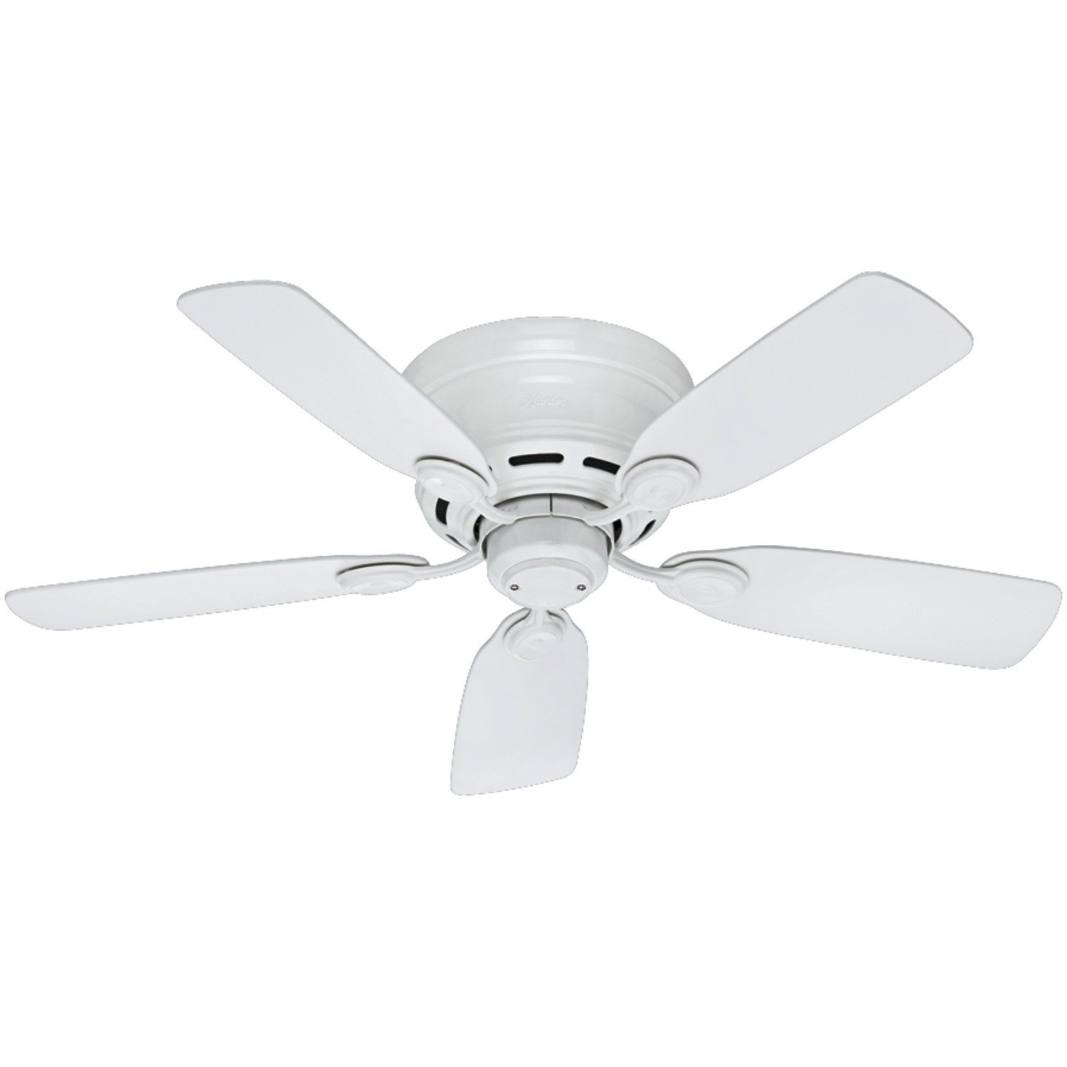 Hunter 51059 Low Profile Iv 5 Blade Ceiling Fan 42 Inch White