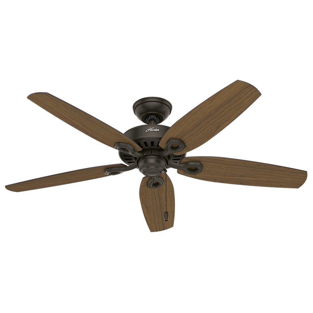 """Hunter 53292 52"""" Builder Elite Damp New Ceiling Fan, Bronze"""