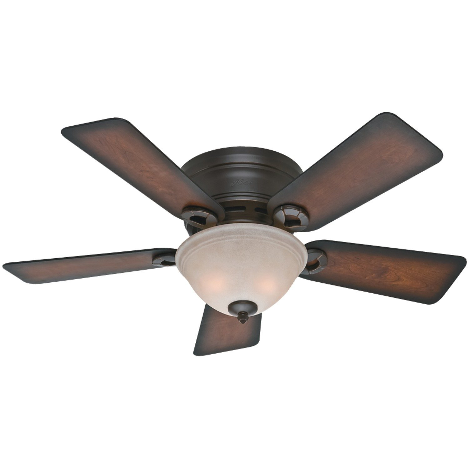 Hunter Fan Company 51023 Conroy 42-Inch Onyx Bengal Ceiling Fan with Five Burnished Mahogany Blades and a Light Kit