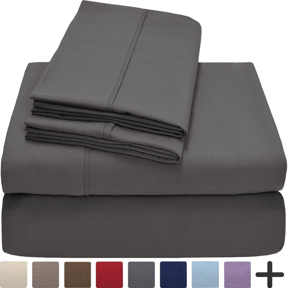 Ivy Union Premium Ultra-Soft Microfiber Sheet Set Twin Extra Long, Twin XL (Grey)