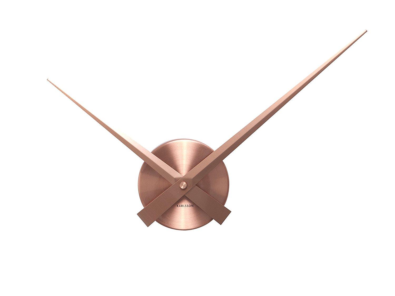 Karlsson Little Big Time Mini Wall Clock Copper - Modern Decorative Clock for Home Decor