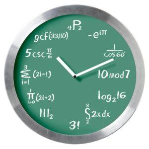 Mathematical Expression Blackboard Wall Clock - Classic Green Chalkboard Background