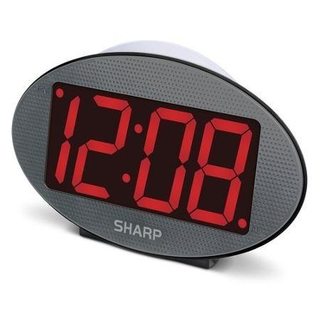 "SHARP 3"" Red LED Jumbo Display Clock with Night Light"
