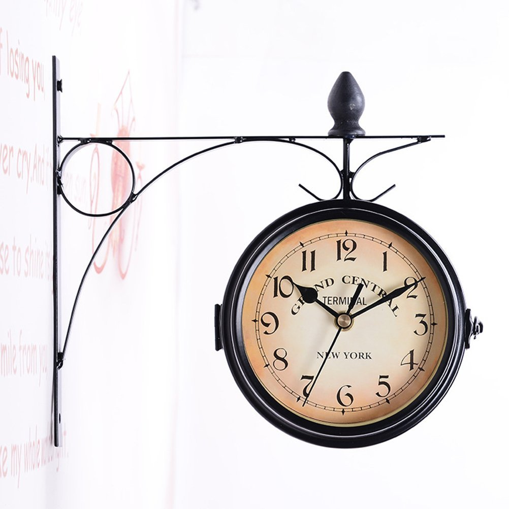 WINOMO European Antique Style Double Side Wall Clock Creative Classic Clocks
