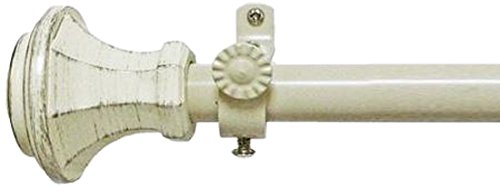 Achim Home Furnishings Buono II Rod with Carson Finial, 28-Inch Extends to 48-Inch