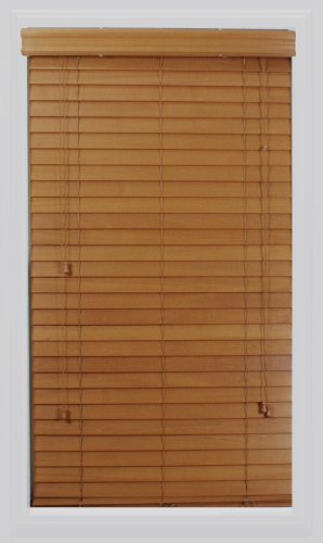 Calyx Interiors Real Wood Venetian Blind, 39-Inch Width by 72-Inch Height, Oak