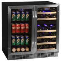 "Edgestar 26 Bottle + 80 Can Side-by-Side 30"" Wide Wine & Beverage Center"