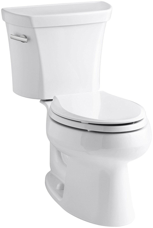 Kohler K-3978-0 Wellworth Elongated 1.6 gpf Toilet, White