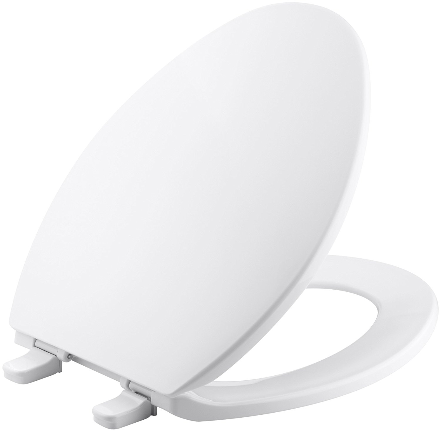 Kohler K-4774-0 Brevia with Quick-Release Hinges Elongated Toilet Seat, White