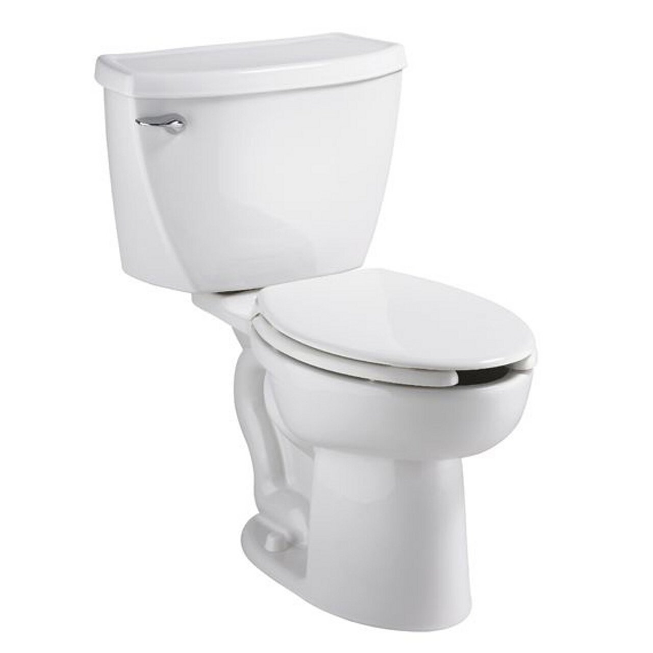 American Standard 2462.100.020 Cadet Flowise Pressure Assisted Elongated Two-Piece Toilet with EverClean, White