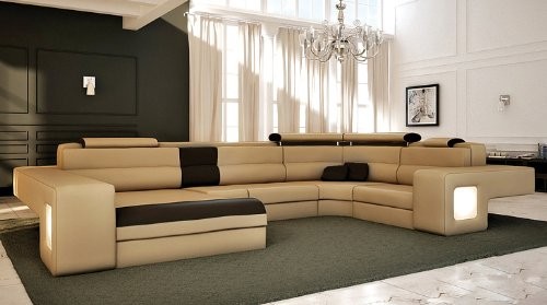 Italian Design Modern Sectional Sofa - Honey