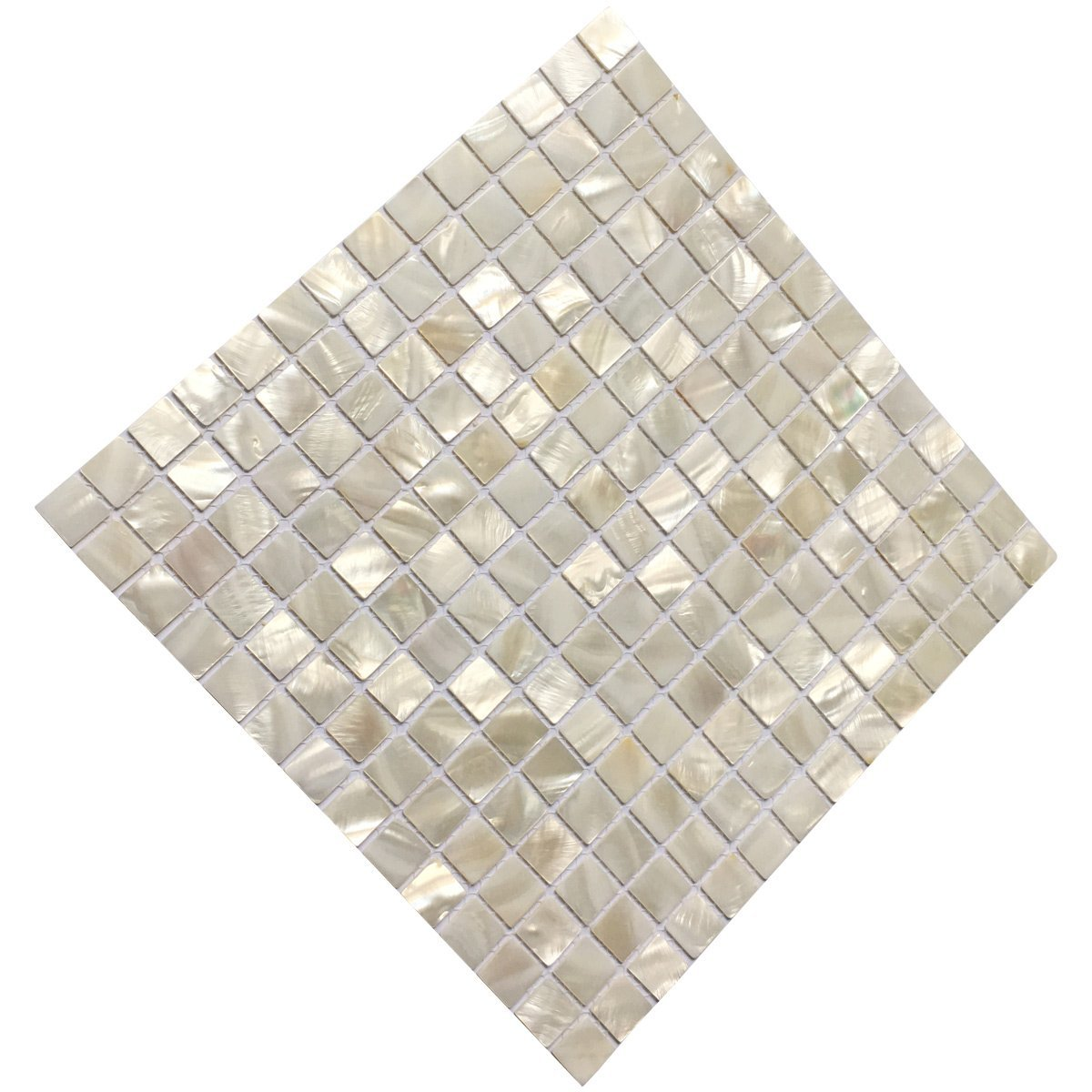 "Art3d Oyster Mother of Pearl Square Shell Mosaic Kitchen Tiles for Kitchen Backsplashes, Bathroom Walls, Spas, Pools 12"" X 12"" Pack of 6"
