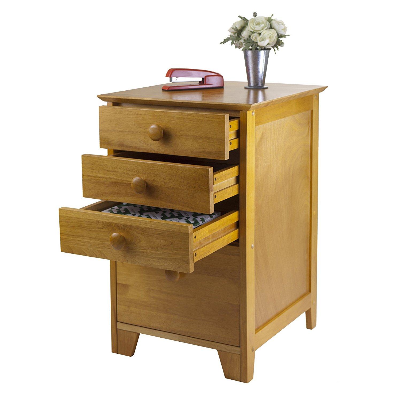 Honey Pine Filing Cabinet - Extra Storage Drawers