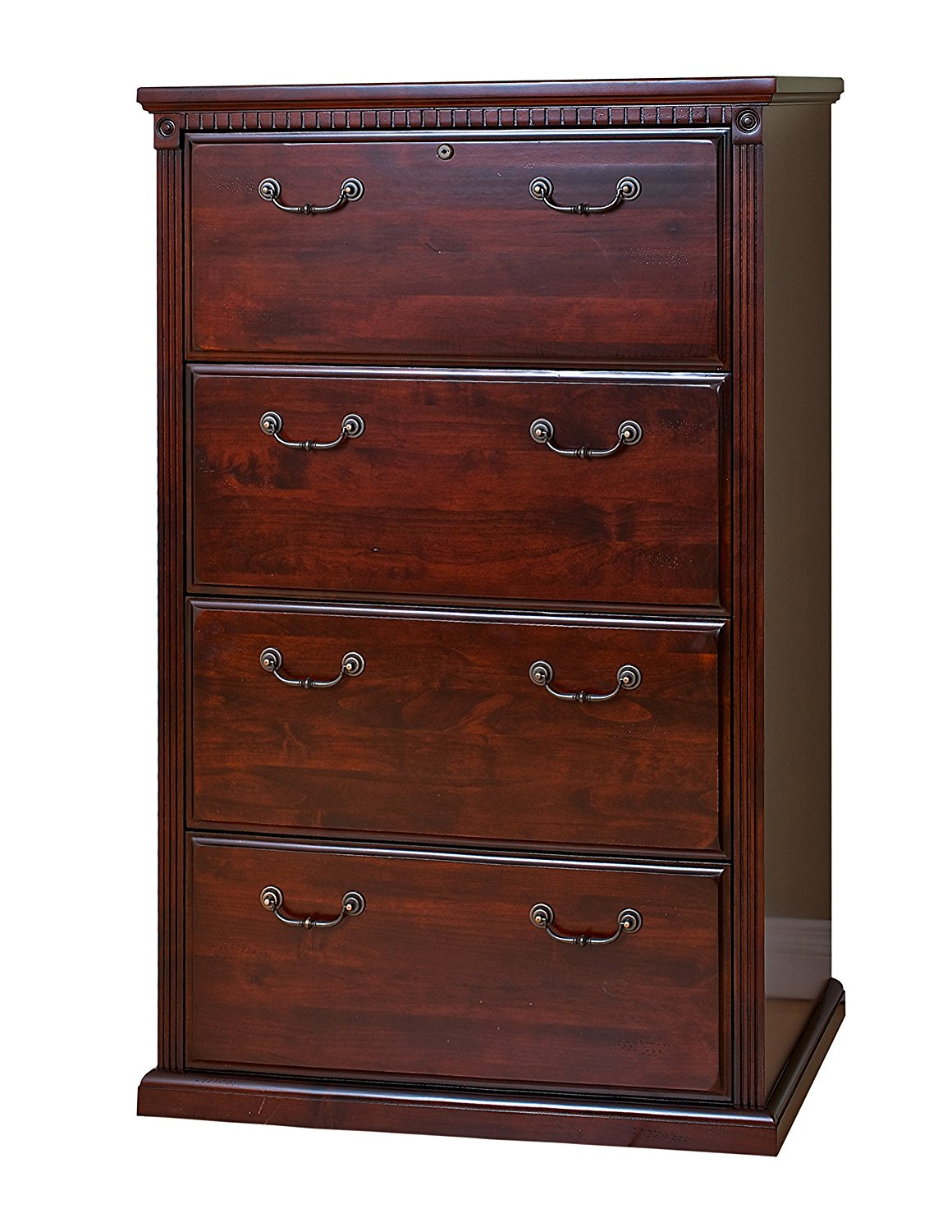 Martin Furniture Huntington Club Office 4 Drawer Lateral File Cabinet