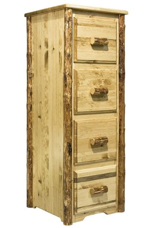 Montana Woodworks Glacier Country Collection 4 Drawer Solid Wood Cabinet