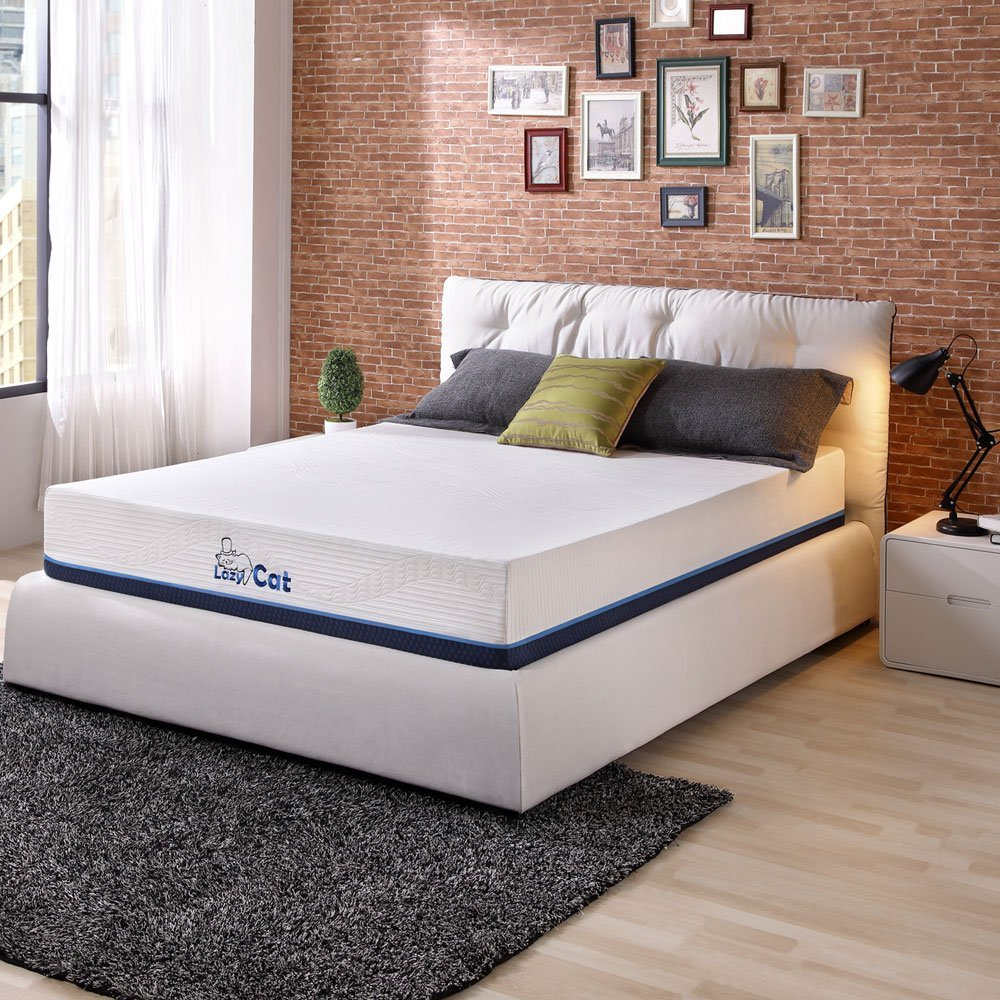 LazyCat Innerspring Memory Foam Tea Infused Mattress with 2 Free Pillows 12 inch Full Mattress