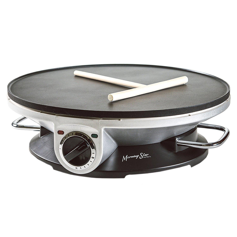 Morning Star - Crepe Maker Pro - 13 Inch Crepe Maker & Electric Griddle - Non-stick Pancake Maker