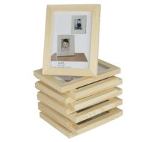 Set of 10 Unfinished Solid Wood Photo Picture Frames 5x7 Inch , Ready to Paint for DIY Projects