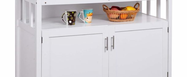 Costzon Kitchen Storage Sideboard Dining Buffet Server Cabinet Cupboard with Shelf (White